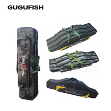 Buy GUGUFISH Folding Fishing Bag 80cm/90cm Fishing Pole Rod Lures Gear Tackle Carry Case Pouch Holder Fishing Rod Bag Reel for $11.99 in AliExpress store