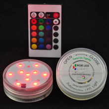 1 Piece /lot High Quality RGB Submersible LED Centerpiece Light Base Display For Flower Arrangements