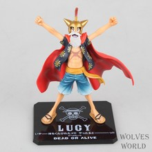 Hot ! NEW 1pcs 15cm latest chapter gladiator One piece luffy PVC action figure toy(China)