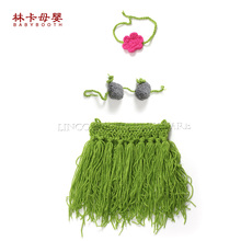 2016 New Arrival 3pcs-set Spring Girl Costume Accessories Outfit Handmade Crochet Baby Newborn Baby Photography Props(China)