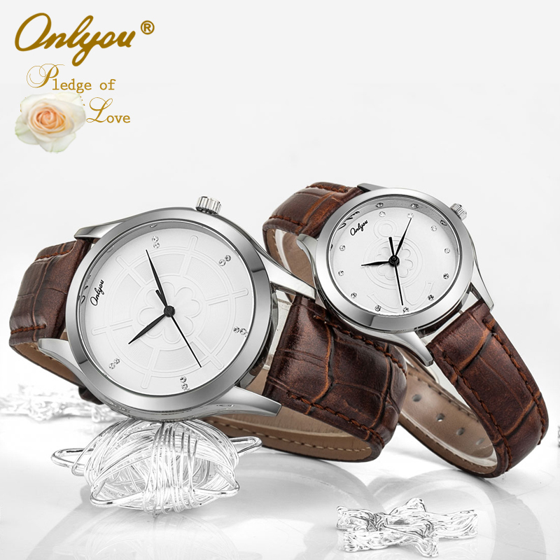 Onlyou Brand Lovers Watches Anchor Rhinestones Saat Wrist Watch For Women Men Quartz Leather Ladies Watch Boys Girls Clock 8850<br>
