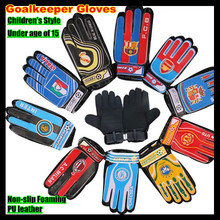 Children Professional Football Club&National Team Goalkeeper Gloves,Non-slip Foaming PU Leather Soccer gloves,for 7-15 boys