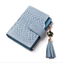 New Brand Women Wallet real leather Luxury Solid  Id Card Holder Pocket Cards Small Wallets Female Coin Purse Gifts Girls