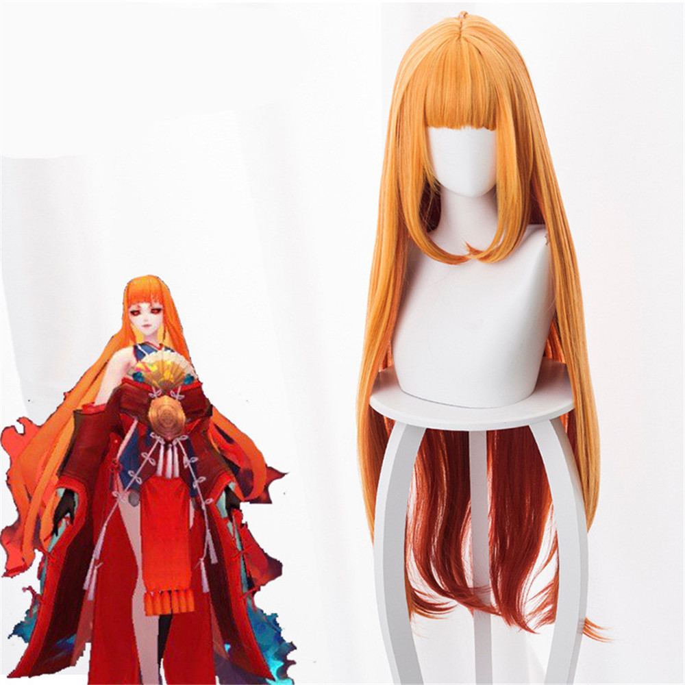Game Onmyoji Cosplay Wigs Shiranui Cosplay Heat Resistant Synthetic Wig Hair Halloween Party Women Cosplay Wig