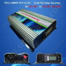 1500w grid tie inverter, On Grid Solar Power Inverter, solar inverter grid tie1.5kw dc 45-90v to ac 190-260v output(China)
