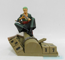 Roronoa Zoro 1pcs 6inch One Piece Zoro Eternal Cool Roronoa 15cm Calendar Pre-Painted PVC Figure kunai pet
