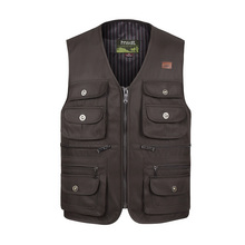 Men Large Size XL-4XL Motorcycle Casual Vest Male Multi-Pocket Tactical Fashion Waistcoats High Quality Masculino Overalls vest(China)