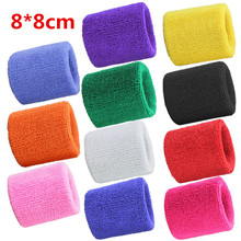 8*8cm Tower Wristband Tennis/Basketball/Badminton Wrist Support Sports Protector Sweatband 100% Cotton Gym Wrist Guard LT001