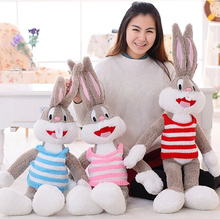 100cm Hot Selling Plush Bugs Bunny Stuffed Animal Kawaii Doll For Kids Soft Pillow For Girls Funning Super Quality