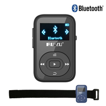 Mini Clip Mp3 RUIZU X26 Bluetooth MP3 player 8GB Sport Bluetooth Mp3 Music Player Recorder FM Radio 1.1inch Support SD Card