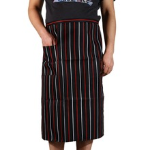 Fashion New Arrival Stripe half Apron With Chef Waiter Kitchen Cook Men Women Cooking Aprons with 1 Pocket Colorful