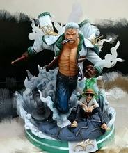 MODEL FANS IN-STOCK one piece 36cm Smoker GK resin statue figure toy for collection(not contain luffy)