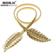 MANILAI Hot T-stage Belly Chain Belts For Women Body Jewelry Fahion Waist elastic Body Chain Jewelry Women's Belt Evening Dress(China)