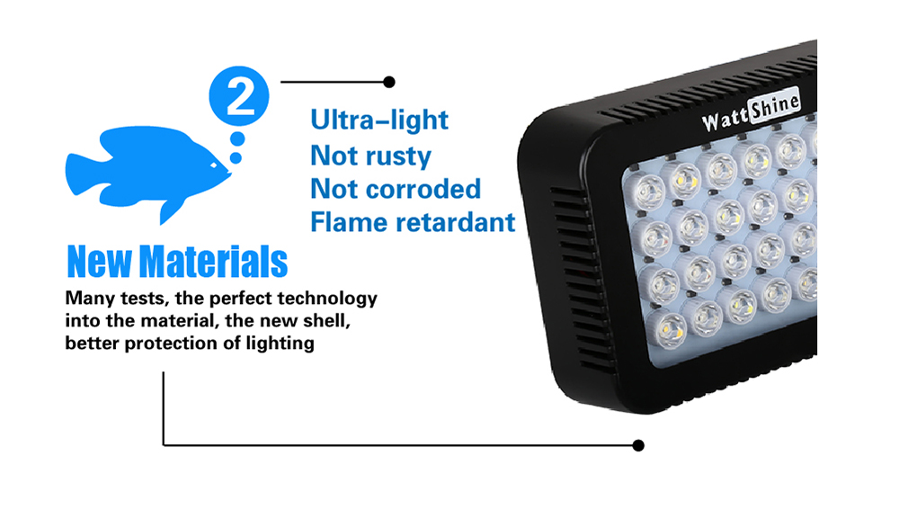 Aquarium led lighting Dimmable lamp Fish bowl light Marine Fish tank Coral lights High brightness Penetrating strong FCC CE ROHS (15)