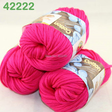 LOT of 3 Balls X 50g Special Thick Worsted Cotton Knitting Yarn Raspberry 2222(China)