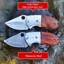 CHACHEKA Damascus Steel Folding Knife Outdoor Portable Pocket Survival EDC Tools Hunting Knives Camping Jackknife