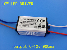 5pieces high quality 10w led driver output 6-12v 900ma waterproof ip67 suitable for 3P3S LED