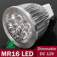 new 1pcs/lot - high power MR16 12V 6w 9w 12w led Dimmable cob spotlight lamp bulb warm cool white(China)