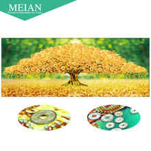 Meian 3D DIY Diamond Embroidery,5D Diamond painting,Diamond mosaic,tree,needlework,Crafts,Christmas,decor(China)