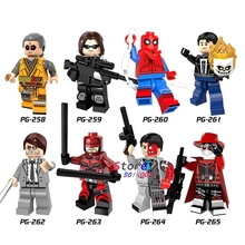 Single DC Comics Spiderman Kaecilius Winter Soldier Daredevil Matt Murdock Ghost Rider building blocks bricks toys for children