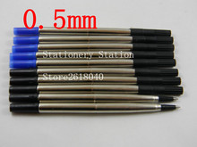 5 black and 5 BLue ink refill for Stationery 0.5 roller ball pen Refills(China)