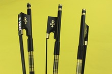 1 piece black Carbon fiber violin bow 4/4 full size black horse hair Ebony Frog