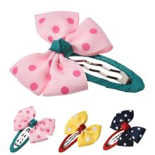 Kids Hair Clips Boutique Hair Bows Accessories Kids Curly Clip Bows Grampo De Metal Para Cabelo #2154