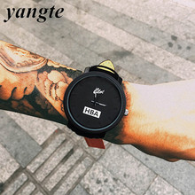 YANGTE Fashion HBA Leather Strap Unisex Watches Men Quartz Women Dress Watch Sports Military Relojes Geneva Wristwatch AB318