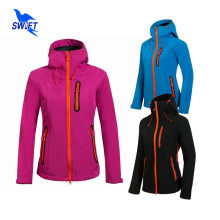 2016 New Tech Fleece Softshell Jacket Women Outdoor Climbing Mountain Hiking Jackets Windstopper Waterproof Fishing Ski Clothing