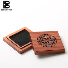 Chinese Vintage Rosewood Wooden Coil Box Incense Burner | Carved Hollow Aroma Censer Furnace | for Yoga Living Room Meditation(China)