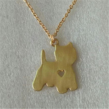 D021_Hot Sale Yorkie Necklace Yorkshire Pendant Puppy Heart Dog Memorial Pet Necklaces & Pendants Women Animal Christmas Gift