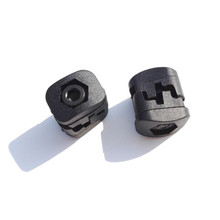 2pk Archery Compound Bow Buckle Drop Away Arrow Rest Clip Accessories Plastic Black Color Fastener(China)