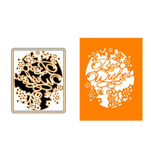 8.8x10.6cm Best Wishes Frame Cutting Dies Metal Scrapbooking Embossing Stencils Craft For DIY Card Album Photo Decoration