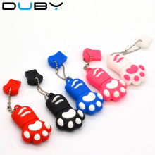 New Design Cat Paw USB Flash Drives 4GB 8GB 16GB 32GB  Pen Drive Pendrives USB Disk USB 2.0 Memory Stick Gift free shipping