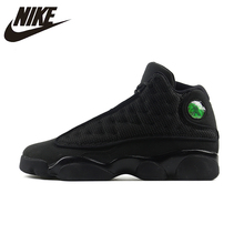 NIKE Air Jordan 13 Black Cat Womens Basketball Shoes Breathable Height Increasing Footwear Super Light Sneakers For Women Shoes(China)