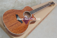 Wholesale factory custom 41-inch natural wood acoustic guitar with gold tuners, you can add fishman pickup EQ.Can be customized