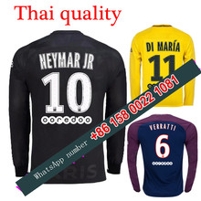 2017 2018 psg Long sleeves jersey 17 18 Home Away football camisetas Thai AAA shirt survetement football Soccer jersey(China)