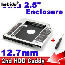 "kebidu2.5"" SSD HDD HD Hard Disk Driver External 12.7mm 2nd Caddy SATA 3.0 Case Enclosure for CD DVD ROM Optical Bay for Notebook(China)"