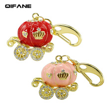 QIFANE Crystal car U Disk 32GB 64G FatTonny pen drive 4G 8G Jewellery USB Flash Drive 16G Creative Metal diamond memory stick