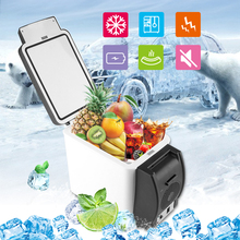 Mini Excelvan Portable Car Fridge 12V 6L Auto Car Travel Warm Refrigerator Quality ABS Multi-Function Home Cooler Freezer Warmer