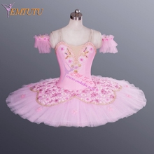 Women Professional Ballet Tutu Pink,Fairy Doll Stage Performance Classical Pancake Ballet Tutu,Professional Ballet Costumes