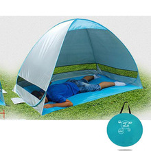 Outdoor camping hiking beach summer tent UV protection fully automatic sun shade quick open pop up beach awning fishing tent(China)