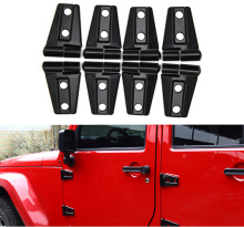 New Arrival (8pcs/set-4Door)  ABS Door Engine Hood Hinge Cover For Jeep Wrangler JK 4Door 11-15