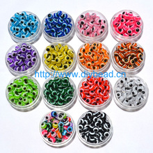 100PCS 8mm Mixed Colorful Beads Round Evil Resin Eye Beads Stripe Spacer Beads Jewelry Fashion DIY Bracelet Making Women Gifts