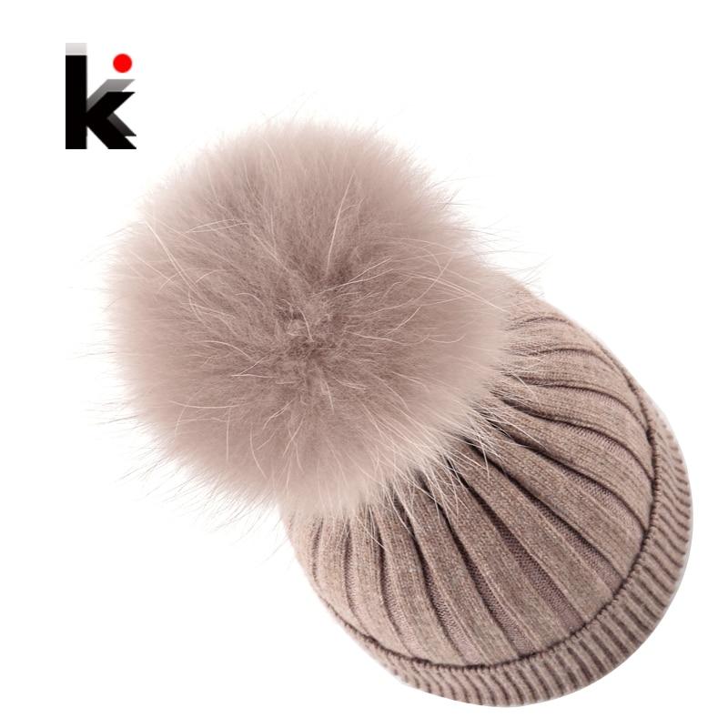 Fur Pompom Ladies Knit Wool Winter Women Hat Beanie Bonnet Knitted Skullies Harajuku Winter Cap Female Hats For Women BeaniesОдежда и ак�е��уары<br><br><br>Aliexpress