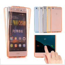 P8 P9 360 Degree Full Body Shockproof Clear Touchable TPU Soft Rubber Case Cover For Huawei P8 Lite P9 Lite P9 Plus P8 Lite 2017
