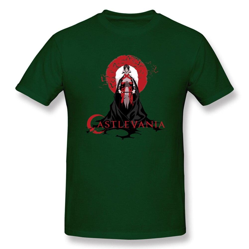 Europe Printing Men T-shirts 2018 Hot Sale Summer Short Sleeve Round Collar All Cotton Tops Shirt Cool Sweatshirts Castlevania Trevor Belmont Hunter of Vampi dark