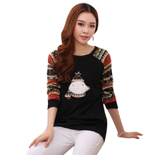 Hot Autumn Winter Loose Casual Pullover Tracksuits Long Sleeve Women Hoodies Christmas Animal Bear Printed Sweatshirt DM#6