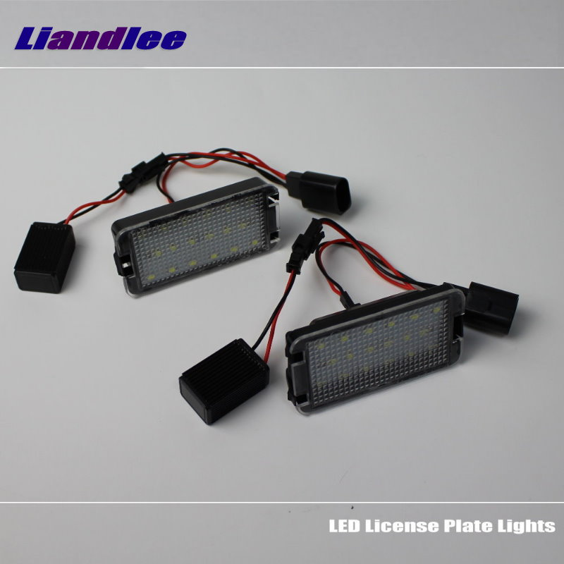 Liandlee For SEAT Exeo Saloon / ST 2008~2013 / LED Car License Plate Lights / Number Frame Light / High Quality LED Lamp<br>