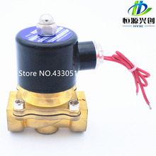 "Free Shipping 2016 New 1/4"",1/8"",1/2"",3/4"",1"",2"", AC220V,DC12V/24V Electric Solenoid Valve Pneumatic Valve for Water Oil Air Gas(China)"
